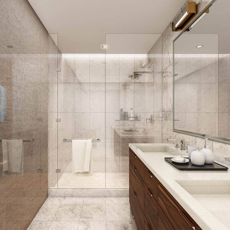 The One Condos Bathroom Rendering