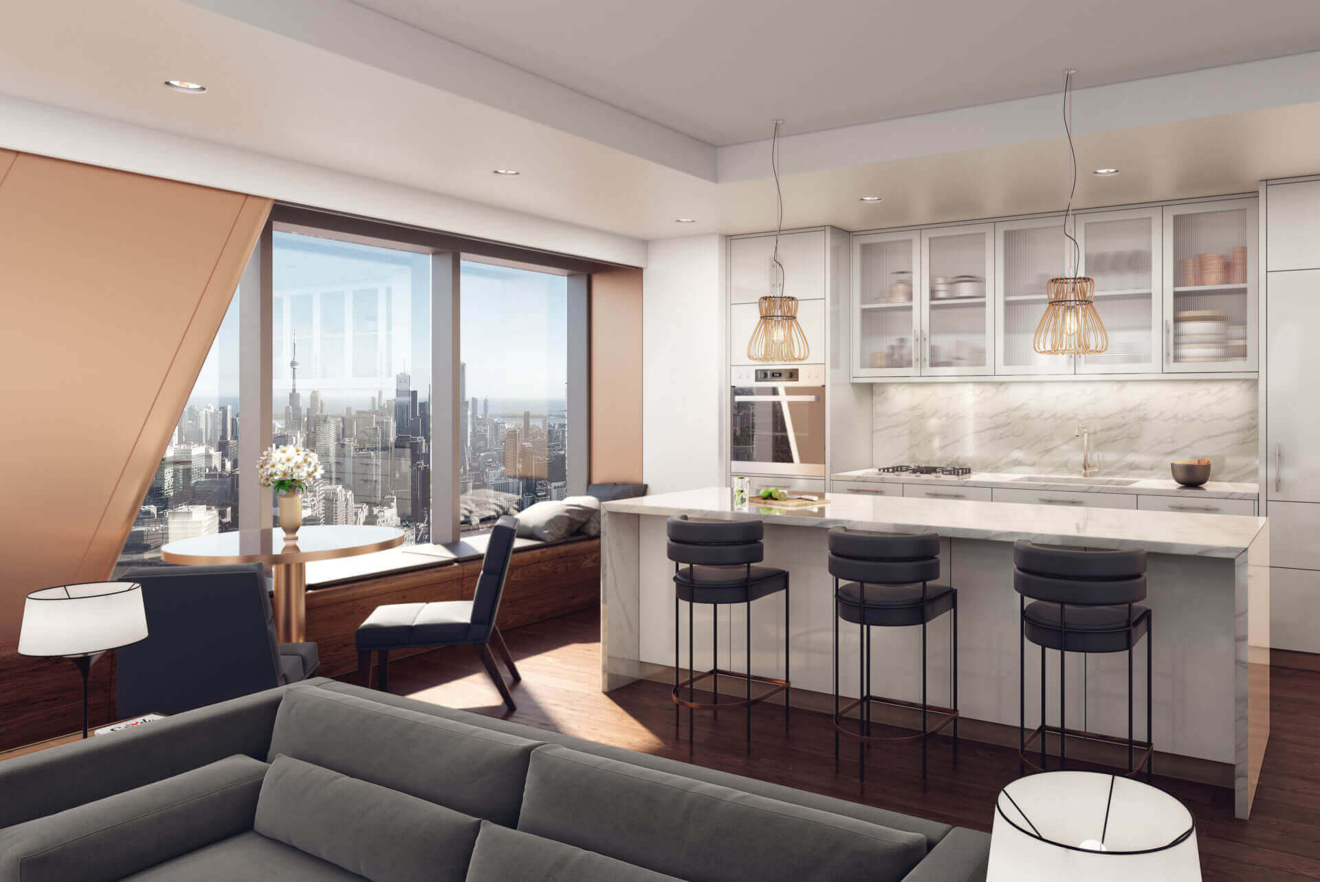 The One Condos Kitchen Rendering