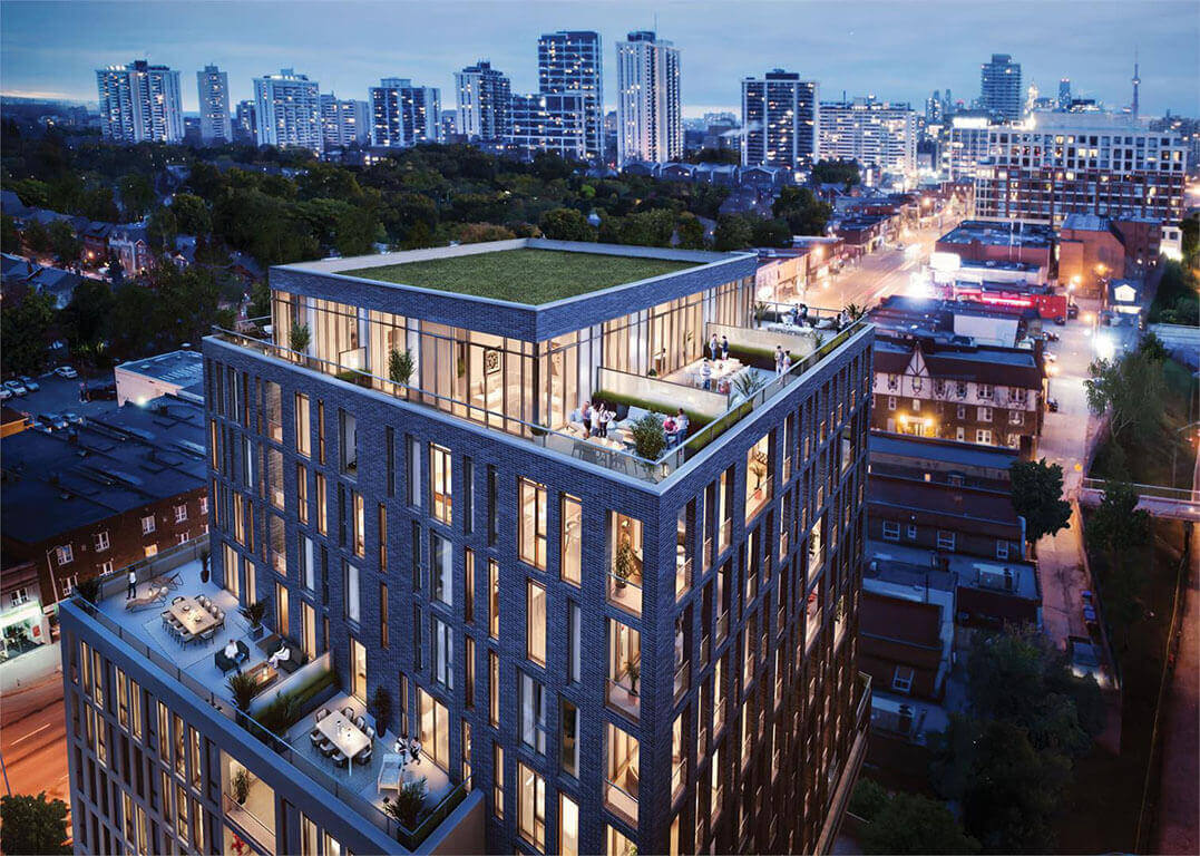 Uovo Condos Boutique Residences Exterior Rendering View of Toronto