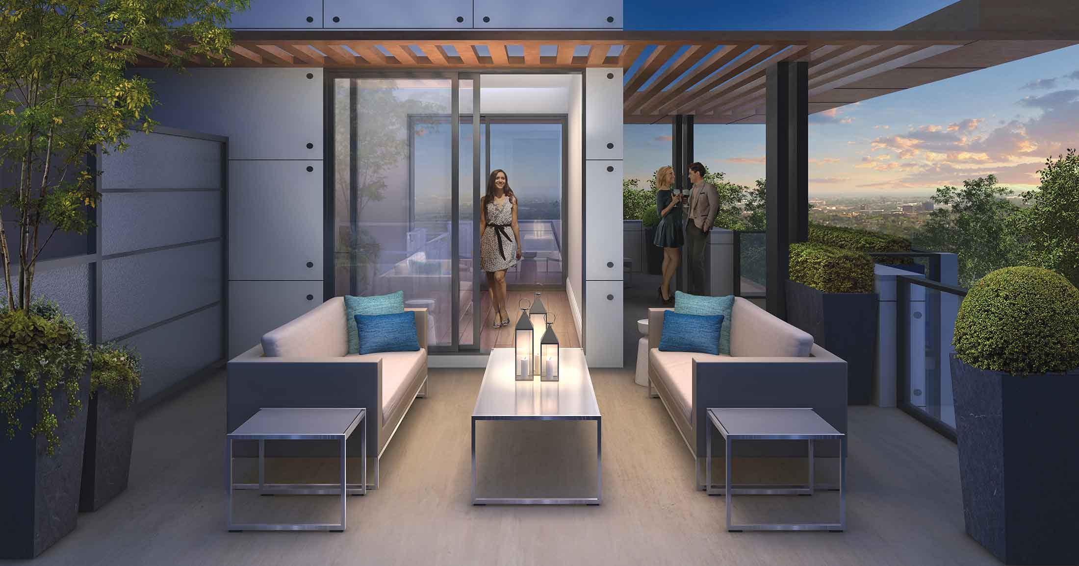 Highlight Condos Mississauga Rooftop Terrace