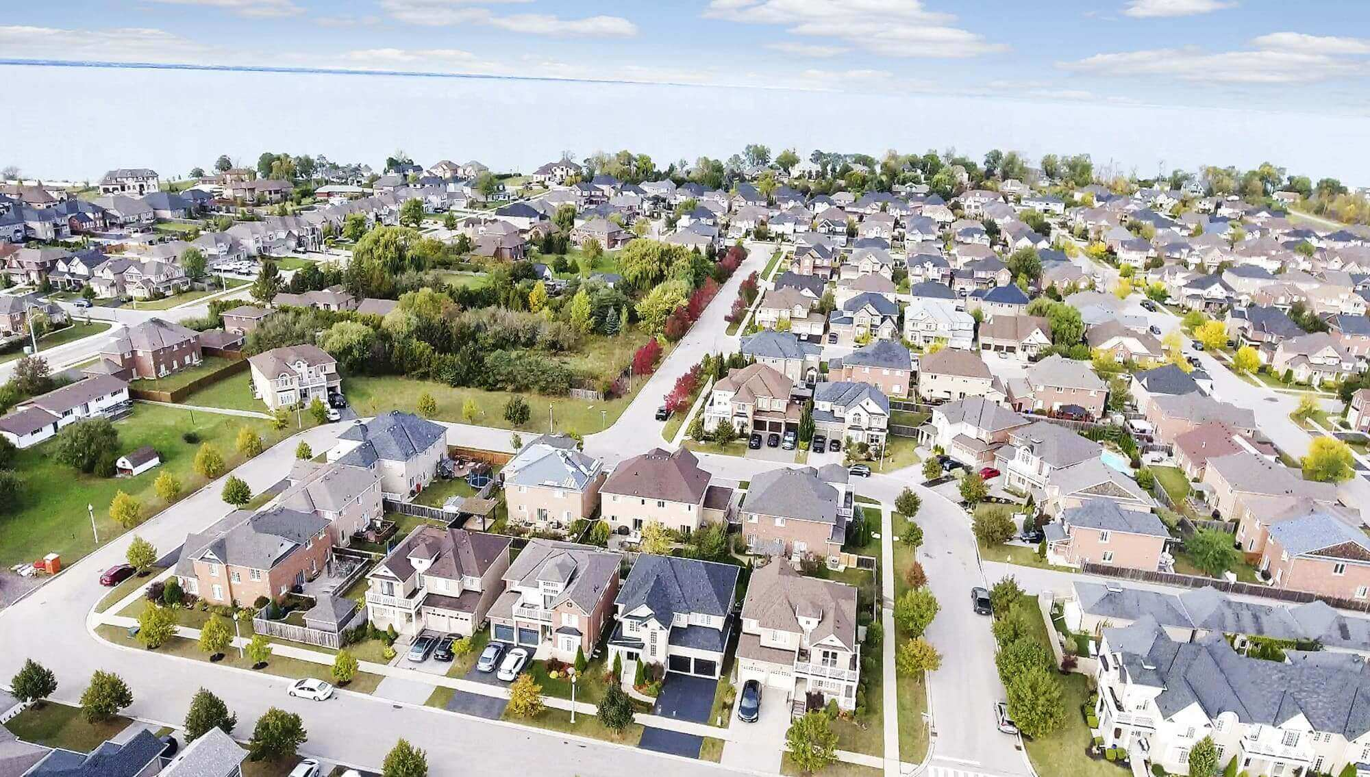 Fifty Point Community in Stoney Creek Aerial View Photograph